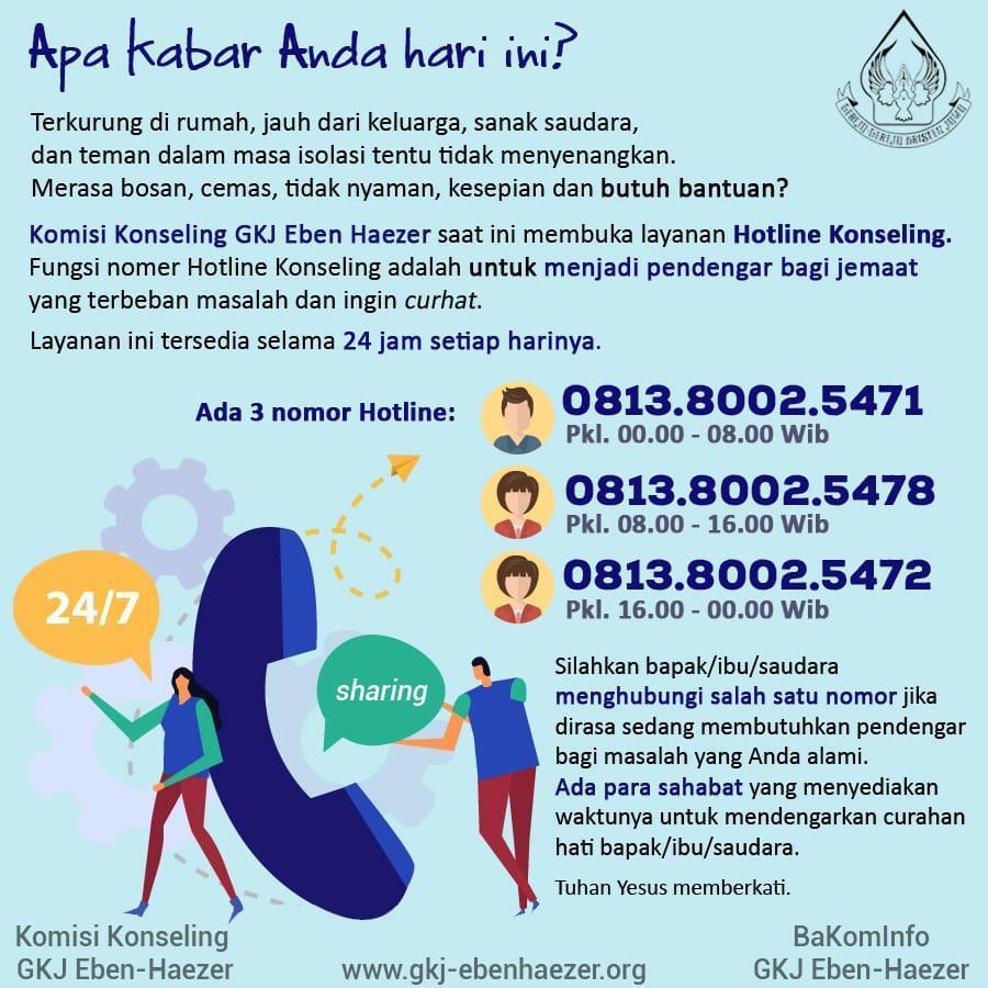 Nomor Hotline Konseling